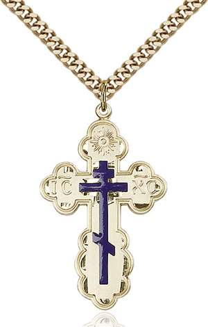 0258EGF/24G <br/>Gold Filled St. Olga Pendant