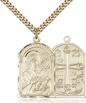 0267GF/24G <br/>Gold Filled Mother of God Pendant