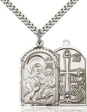 0267SS/24S <br/>Sterling Silver Mother of God Pendant