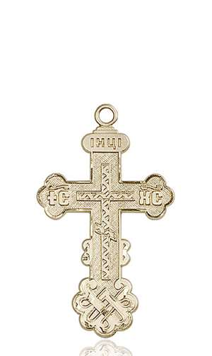 0269KT <br/>14kt Gold Cross Medal