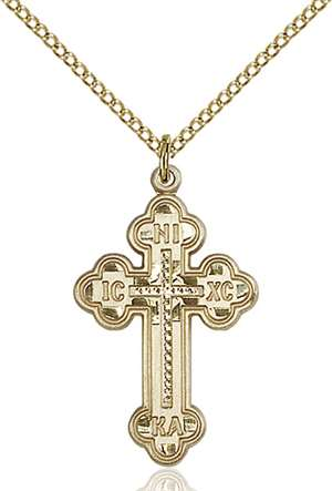0273GF/18GF <br/>Gold Filled Russian Cross Pendant