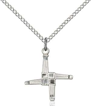 0290SS/18SS <br/>Sterling Silver St. Brigid Cross Pendant