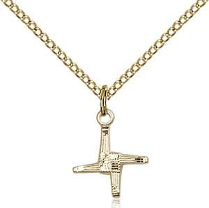 0291GF/18GF <br/>Gold Filled St. Brigid Pendant