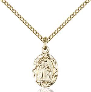 0301AGF/18GF <br/>Gold Filled St. Ann Pendant