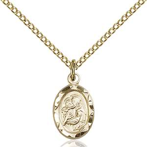 0301DGF/18GF <br/>Gold Filled St. Anthony Pendant