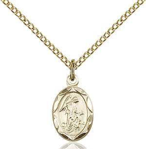 0301EGF/18GF <br/>Gold Filled Guardian Angel Pendant