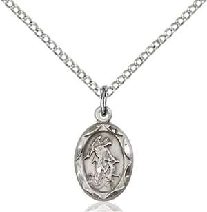 0301ESS/18SS <br/>Sterling Silver Guardian Angel Pendant