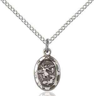 0301RSS/18SS <br/>Sterling Silver St. Michael the Archangel Pendant
