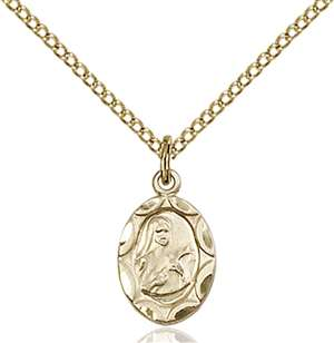 0301TGF/18GF <br/>Gold Filled St. Theresa Pendant