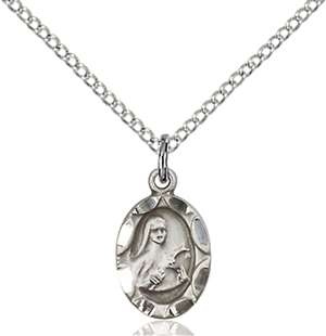 0301TSS/18SS <br/>Sterling Silver St. Theresa Pendant