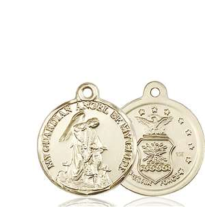 0341KT <br/>14kt Gold Guardian Angel Medal