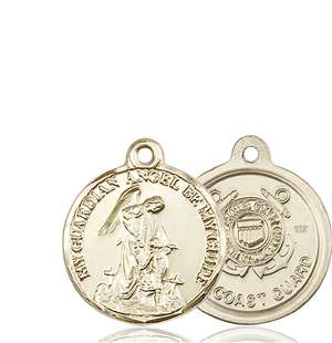 0341KT3 <br/>14kt Gold Guardian Angel / Coast Guard Medal