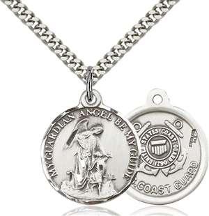 0341SS3/24S <br/>Sterling Silver Guardian Angel / Coast Guard Penda