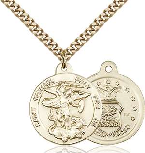 0342GF1/24G <br/>Gold Filled St. Michael the Archangel Pendant
