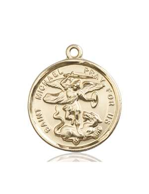 0342KT <br/>14kt Gold St. Michael the Archangel Medal
