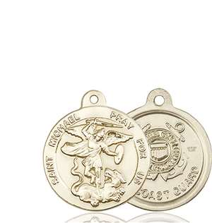 0342KT3 <br/>14kt Gold St. Michael the Archangel Medal