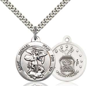 0342SS1/24S <br/>Sterling Silver St. Michael the Archangel Pendant