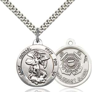 0342SS3/24S <br/>Sterling Silver St. Michael the Archangel Pendant