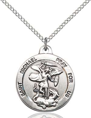 0343SS/18SS <br/>Sterling Silver St. Michael the Archangel Pendant