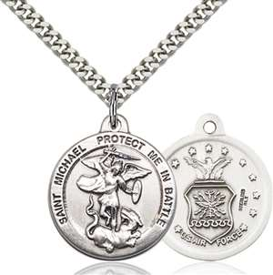 0344SS1/24S <br/>Sterling Silver St. Michael the Archangel Pendant