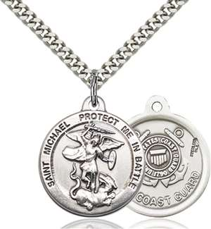 0344SS3/24S <br/>Sterling Silver St. Michael the Archangel Pendant