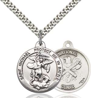 0344SS5/24S <br/>Sterling Silver St. Michael the Archangel Pendant