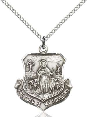 0345SS/18SS <br/>Sterling Silver Lord Is My Shepherd Pendant