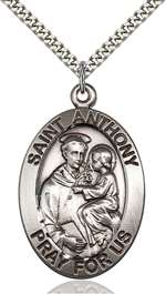 0421SS/24S <br/>Sterling Silver St. Anthony Pendant