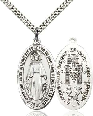 0453SS/24S <br/>Sterling Silver Miraculous Pendant