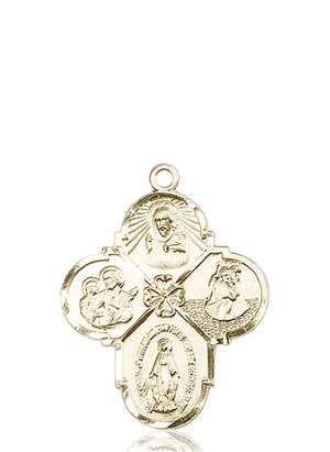 0478KT <br/>14kt Gold 4-Way Medal