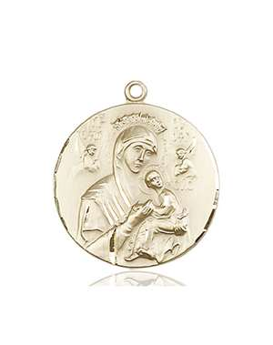 0567KT <br/>14kt Gold O/L of Perpetual Help Medal