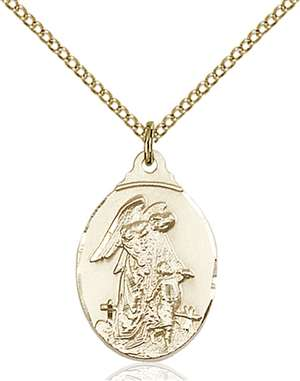 0599EGF/18GF <br/>Gold Filled Guardian Angel Pendant
