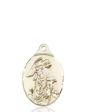 0599EKT <br/>14kt Gold Guardian Angel Medal
