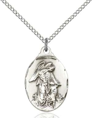 0599ESS/18SS <br/>Sterling Silver Guardian Angel Pendant