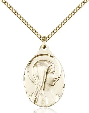 0599GF/18GF <br/>Gold Filled Sorrowful Mother Pendant