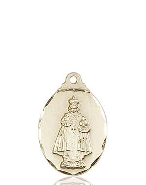 0599IKT <br/>14kt Gold Infant of Prague Medal