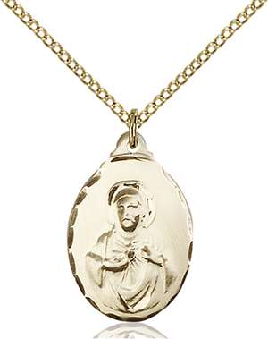 0599SGF/18GF <br/>Gold Filled Scapular Pendant