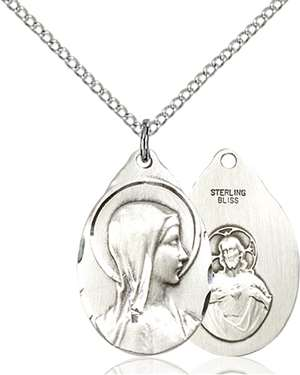 0599SS/18SS <br/>Sterling Silver Sorrowful Mother Pendant