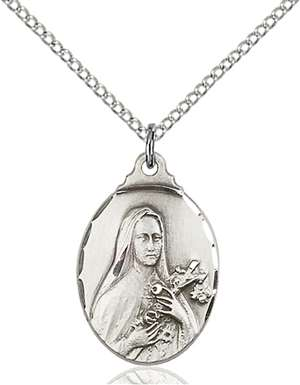 0599TSS/18SS <br/>Sterling Silver St. Theresa Pendant