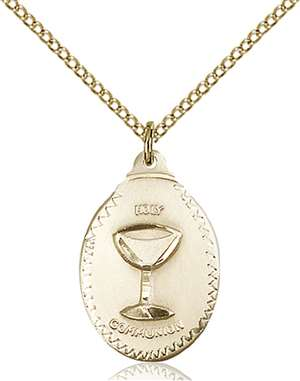 0599WGF/18GF <br/>Gold Filled Communion Pendant