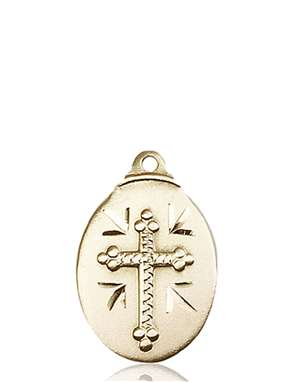 0599YKT <br/>14kt Gold Cross Medal