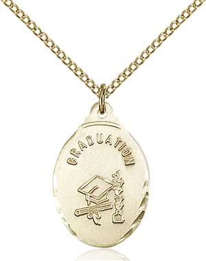 0599ZGF/18GF <br/>Gold Filled Graduate Pendant