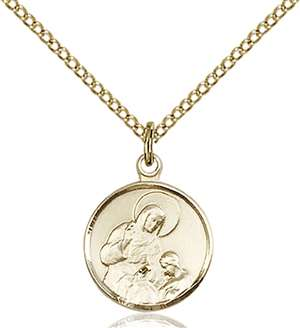 0601AGF/18GF <br/>Gold Filled St. Ann Pendant