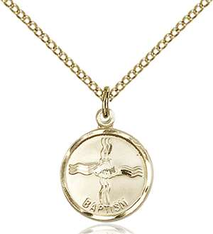 0601BAGF/18GF <br/>Gold Filled Baptism Pendant