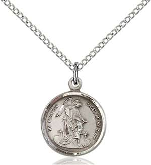 0601ESS/18SS <br/>Sterling Silver Guardian Angel Pendant