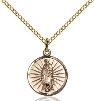 0601FGF/18GF <br/>Gold Filled O/L of Guadalupe Pendant