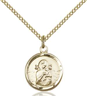 0601HGF/18GF <br/>Gold Filled O/L of Perpetual Help Pendant