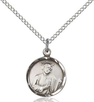 0601JSS/18SS <br/>Sterling Silver St. Jude Pendant