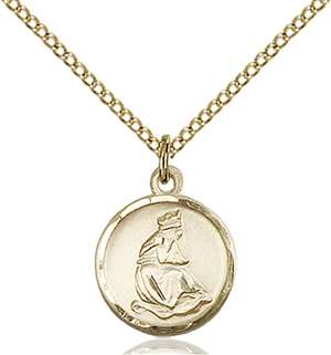 0601LGF/18GF <br/>Gold Filled O/L of La Salette Pendant