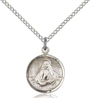 0601OSS/18SS <br/>Sterling Silver St. Cabrini Pendant